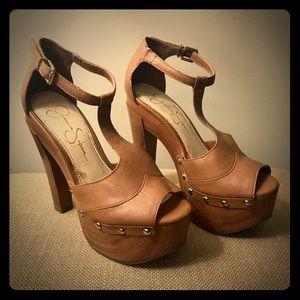 JESSICA SIMPSON: Dany T Strap Platform heels